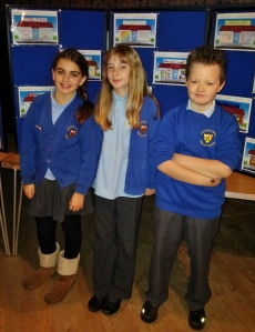 Juniors with their ideas for retail stores in Aireborough.