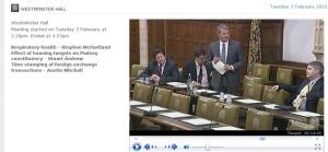 Westminster Debate 3 Feb 2015