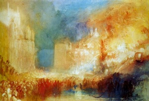 J M W Turner 1835 - The Day the Houses of Parliament Burnt Down