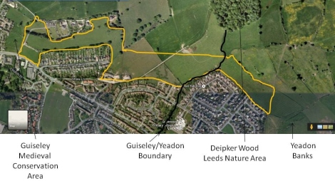 Urban extension from Wills Gill to Yeadon Banks. Does this merge settlements? Is this an encroachment of the countryside? You decide