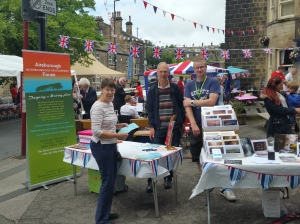 Our Fundraising Stall at the Queen's Street Party